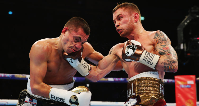 Frampton broke Quigg's jaw with a fourth round uppercut [Picture: Getty]