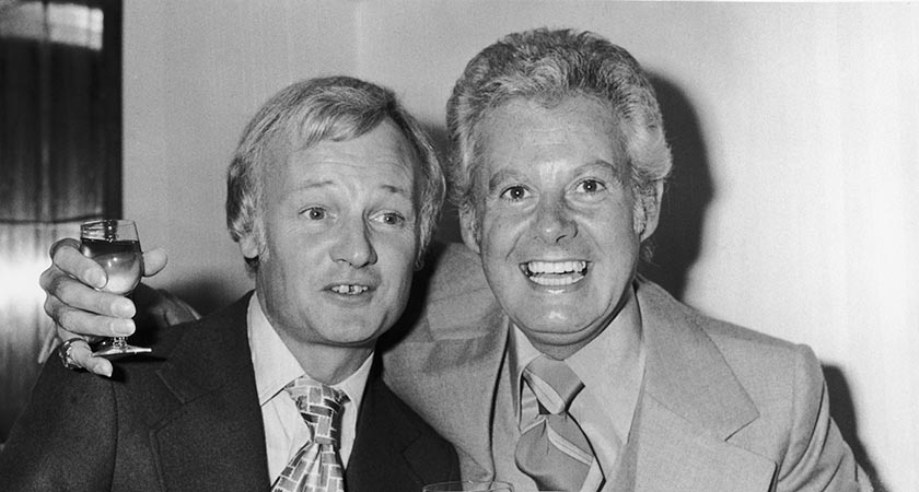 Dan the Man - pictured here with John Inman (r). Picture: Getty