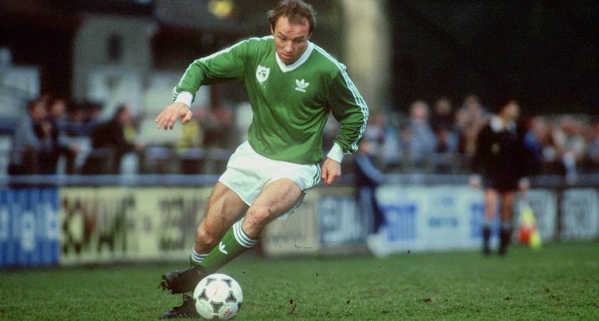 Dave Langan in action for Ireland against Uruguay in 1986 [Picture: Getty]