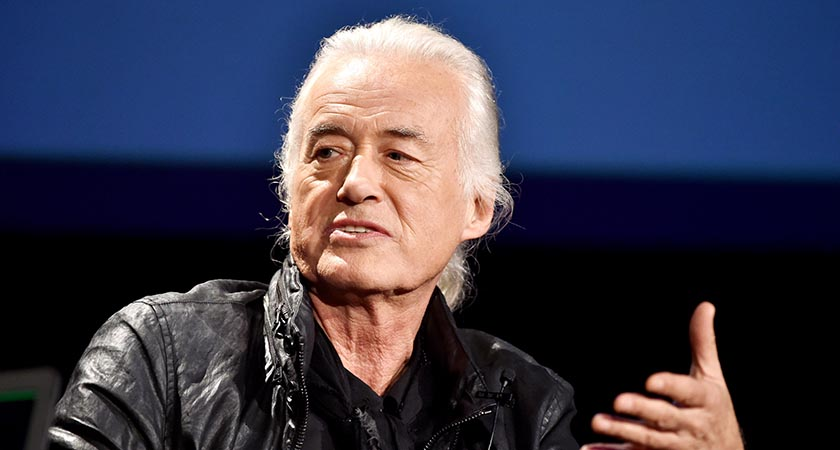 Jimmy Page —Led Zep's guitarist. Picture: Getty Images