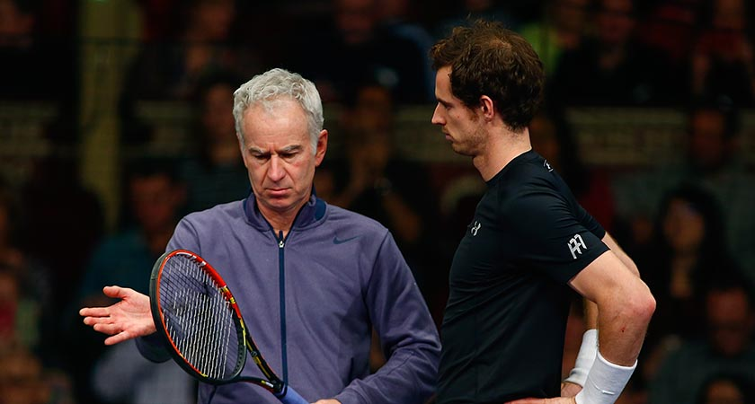 John Patrick McEnroe pictured with ANdrew Barron Murray. Picture: Getty
