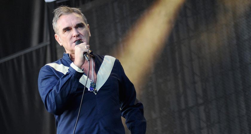 Morrissey in jovial mood. Picture: Getty