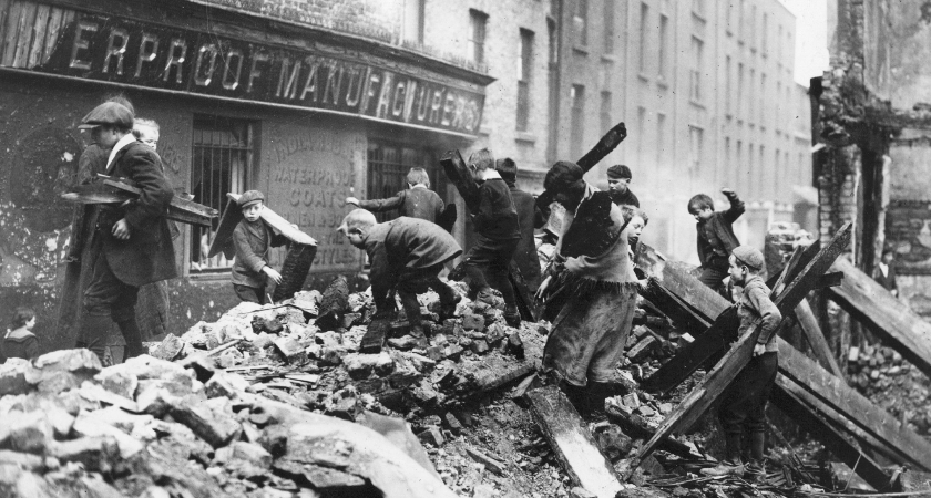 The Easter Rising caused devastation across Dublin but this massacre is largely forgotten. (Picture: Getty Images)