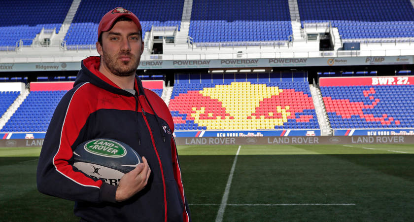 Sebastian Cay, pictured at the Red Bull Arena