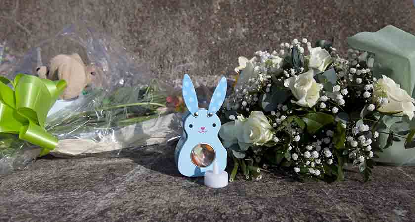 23/3/2016. Buncrana Drownings. Flowers and other items left on the pier in Bruncana in County Donegal where five people including members of the McGrotty and Daniels families drowned when Mr. McGrotty's car slipped off the pier into the sea. Every parent, mother and father, will have had their hearts torn apart at the graphic details which emerged of the last moments of Sean McGrotty as he faced the horrendous decision regarding the saving of his own life or getting back into the sinking car to die in the company of his two young sons and his mother in-law and her young daughter. Many will wonder what their own decision would have been and will hope that they would have shown the same instinctive bravery towards saving their children as that shown by Mr. Grotty. It is hopefully a dilemma which none of the parents who have visited the site of the tragedy will have to face.The funerals take place tomorrow. Photo: RollingNews.ie