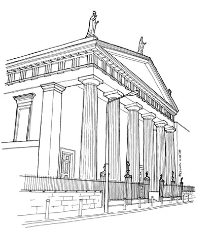 St Mary's Pro-Cathedral. Taken from 'Dublin Strolls' by Gregory and Audrey Bracken (The Collins Press, 2016)