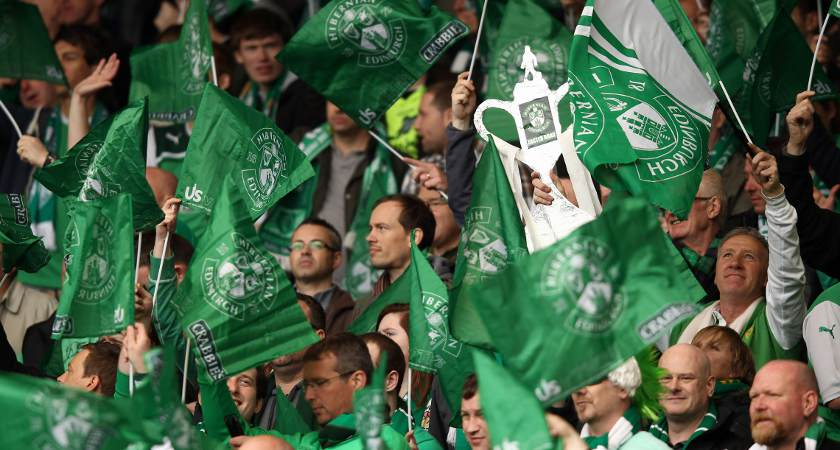 Hibs fans are well clued up on their history [Picture: Getty]