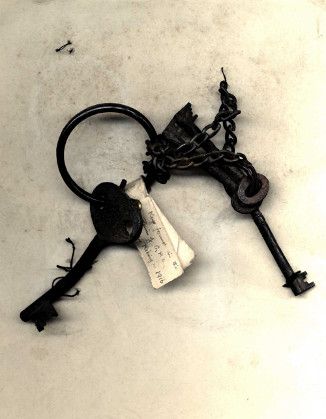 Original keys of the GPO used during the 1916 Rising