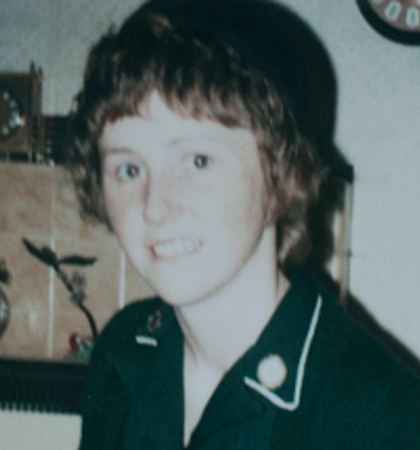 Phyllis Whitsell during her younger days as a nurse