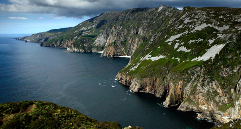 The Slieve League Cliffs are the highest in Europe and overlook Donegal Bay