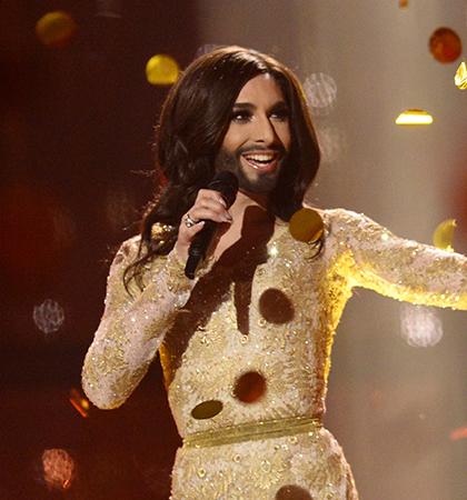 Austria's Conchita Wurst, the 2014 Eurovision winner. (Picture: Getty Images)