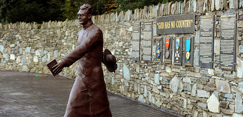 Statue of Mgr O'Flaherty in his hometown of Killarney.