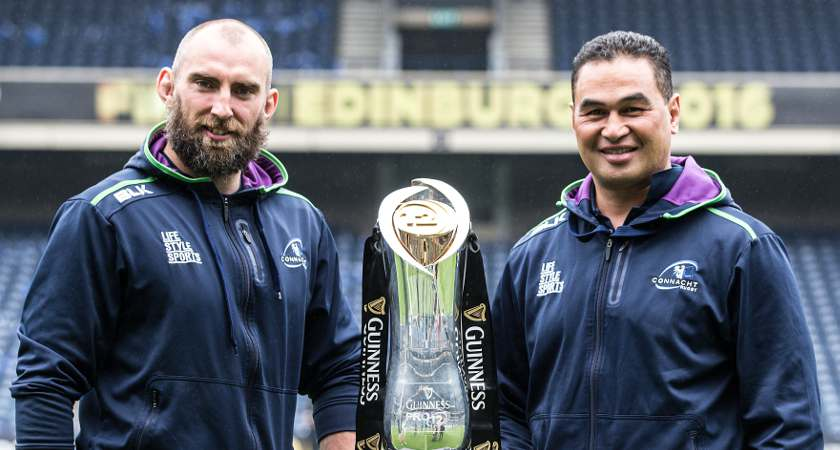 Connacht captain John Muldoon with head coach Pat Lam [Picture: ©INPHO/Dan Sheridan]