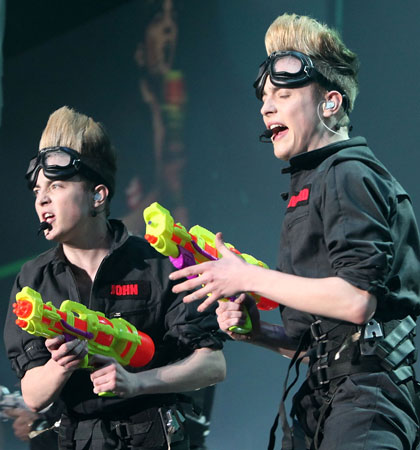 Jedward's survival on X Factor generated 3,000 complaints (Picture: Getty Images)