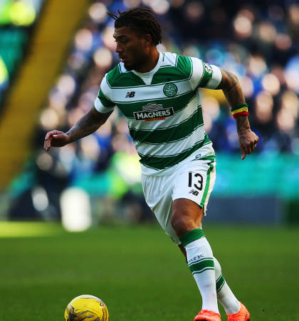 GLASGOW, SCOTLAND - MARCH 06: Colin Kazim-Richards of Celtic controls the ball during the William Hill Scottish Cup Quarter Final match between Celtic and Greenock Morton at Celtic Park Stadium on March 6, 2016 in Glasgow, Scotland. (Photo by Ian MacNicol/Getty images) *** Local Caption *** Colin Kazim-Richards