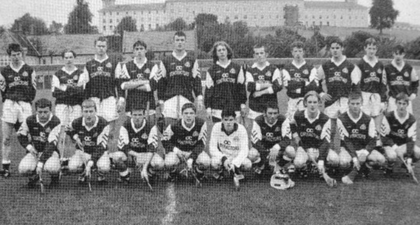 Macklin, fourth from left in the front row, pictured with the South Tipperary Minor 'A' hurling champions, 1997 [Picture: Matthew Macklin]