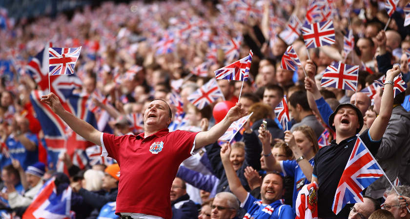 Rangers fans are generally proud of their British heritage [Picture: Getty]