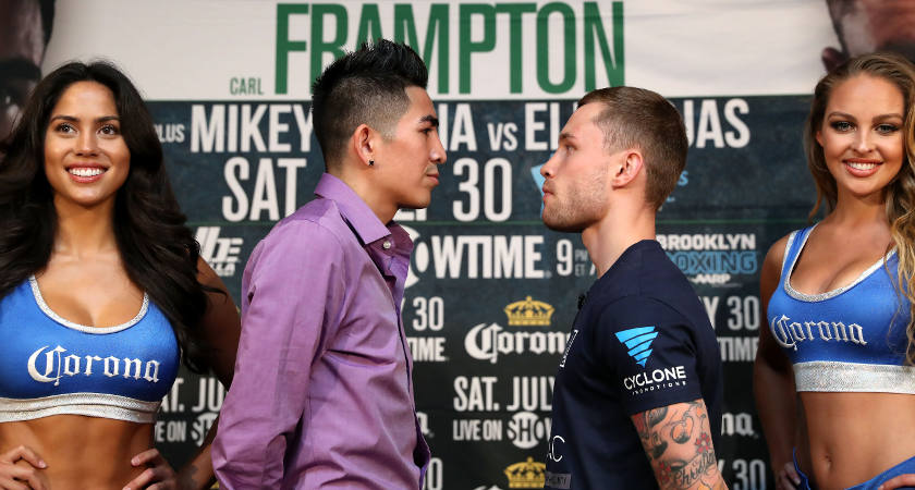 Carl Frampton Press Conference, Barclays Center, Brooklyn, New York 28/7/2016 Leo Santa Cruz and Carl Frampton Mandatory Credit ©INPHO/Presseye/William Cherry