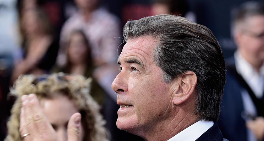 Pierce Brosnan —the former 007 invoked the Child of Prague. Picture: Getty Images