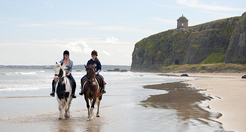 Mussenden Temple overlooking Benone Strand. Picture: Tourism Ireland