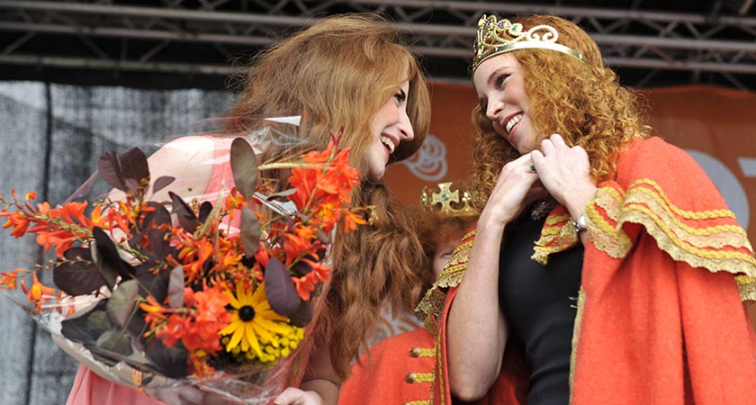 Winners at the Irish Redhead Convention in 2015 in Cork (Photo by Clodagh Kilcoyne/Getty Images)