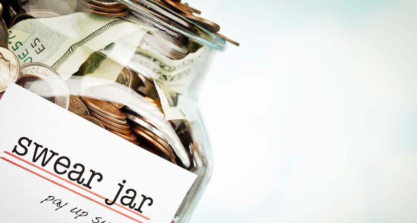 Swear Jar with copy space