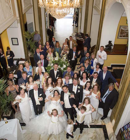 7 Bride and Groom and Wedding Guests. Imperial Hotel Cork
