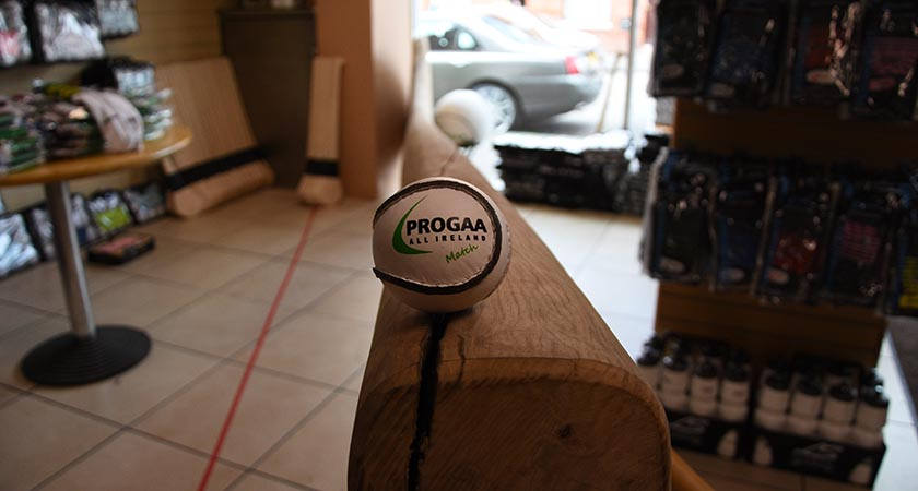 The hurl is on display within the shop (Source: ProGAA Store)