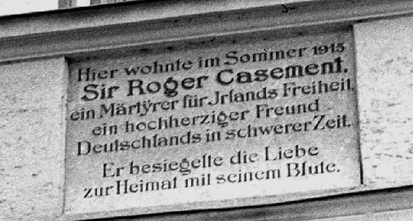 Plaque commemorating Casement's stay in Bavaria during the summer of 1915. (Source: Wikipedia)