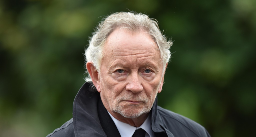 Phil Coulter arrives for the funeral of the late retired Bishop of Derry, Dr. Edward Daly (Photo by Charles McQuillan/Getty Images)