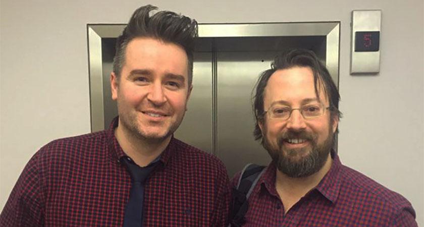 Regan & fellow comedian David Mitchell [Picture: Twitter]