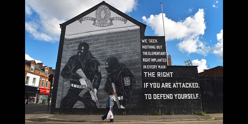 A UVF mural in East Belfast. (Photo by Charles McQuillan/Getty Images)