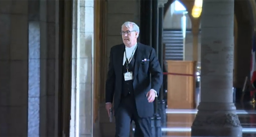 Mr Vickers after shooting a terrorist dead at Parliament Hill, Ottawa on October 22, 2014 [Picture: YouTube]