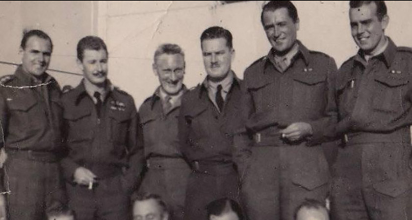 McCarthy (3rd from left) with RAF chums [Via: Collins Press]