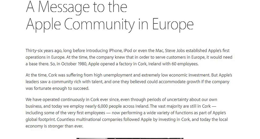 Tim Cook's open letter to customers after the ruling (Source Apple)