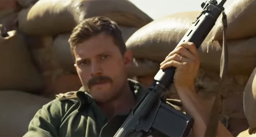 Jamie Dornan in The Siege of Jadotville [Picture: YouTube]