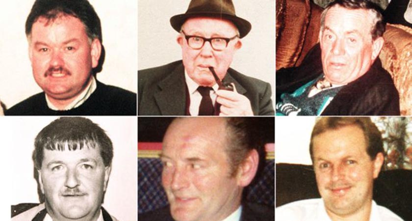 The six victims of the Loughinisland Massacre (Source Creative Commons)