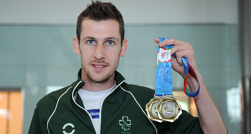 Michael McKillop displaying his European Championships medals [Picture: INPHO/Tommy Grealy]