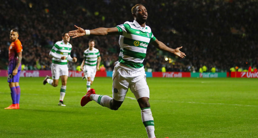 Moussa Dembele celebrates his spectacular second against City [Picture: Getty]