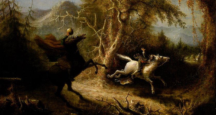 1858 depiction of the English dullahan 'The Headless Horseman' [Via: Wikipedia Commons]