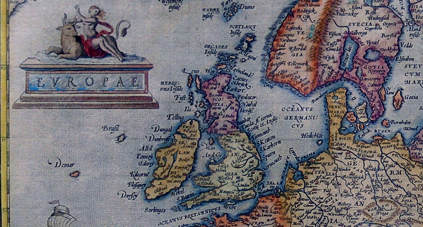 Brasil on a 1595 map west of Ireland [Via: Wikipedia Commons]