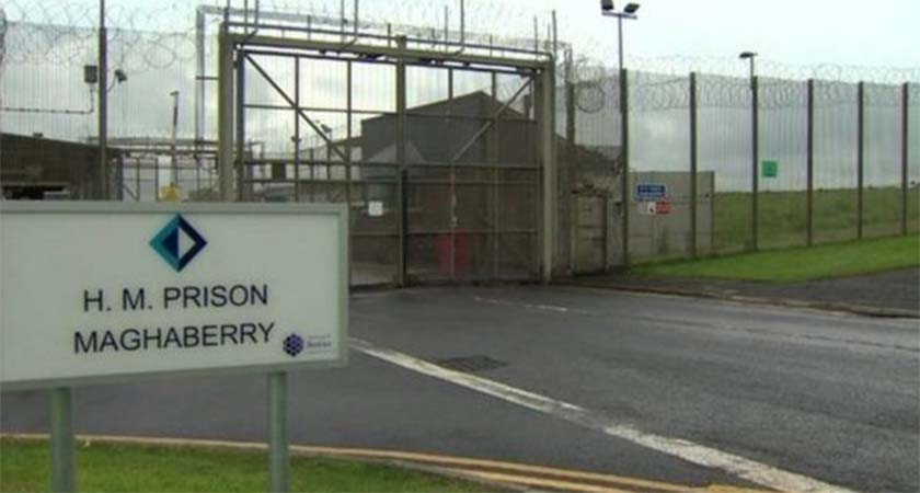 "Maghaberry Prison in Lisburn, where Sean Lynch's series of ""extreme and shocking"" self harm incidents took place. (Source: BBC)"