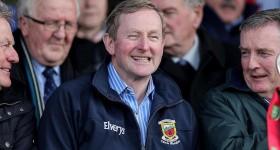 Taoiseach Enda Kenny (2016) with Mayo jacket
