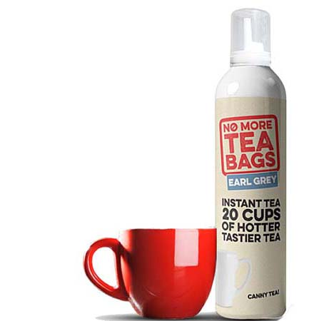 No More Tea Bags produces a tea foam which has already been brewed for five minutes. (Source: No More tea Bags)