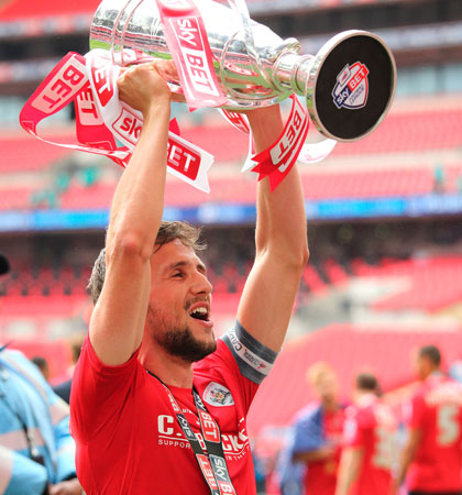 The Championship's player of the month for August captained Barnsley to playoff success last season [Image: Getty]