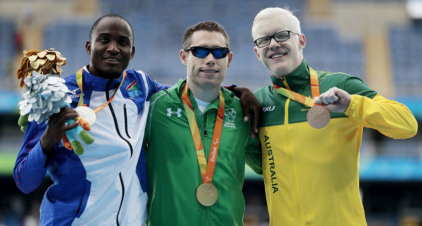 Smyth with fellow medalists [Image: Getty}