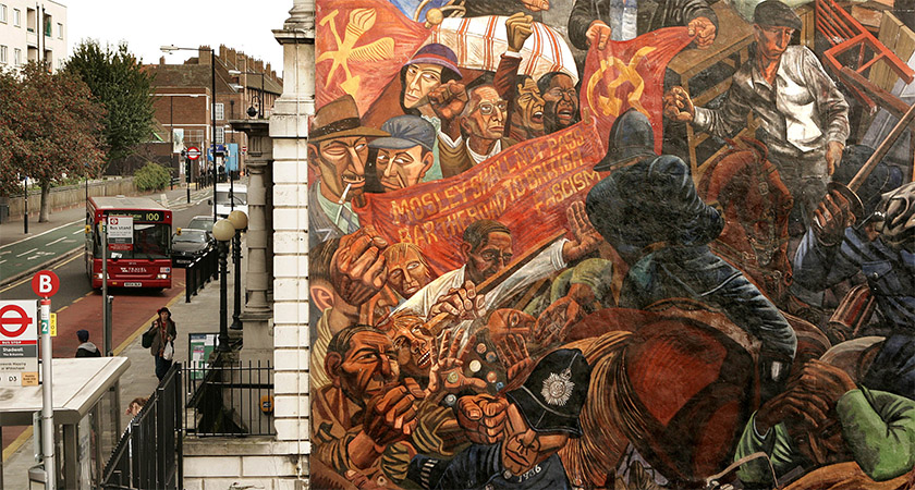 The Cable Street mural today [Source: Peter Macdiarmid/Getty]