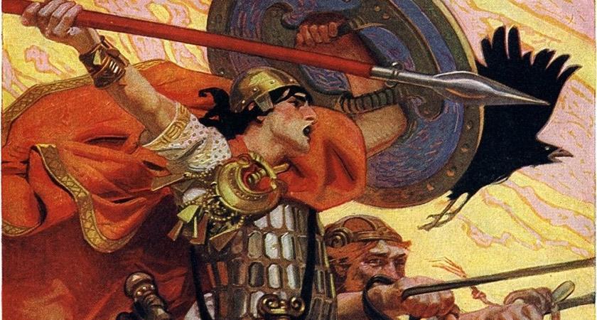 Irish mythological warrior Cú Chulainn was said to have fought on Samhain [Picture: Pubic Domain]