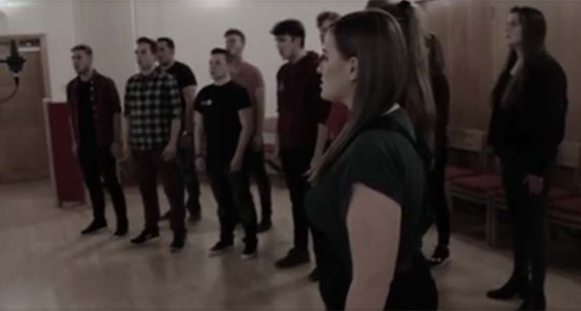 The Dublin City University recorded The Fields of Athenry acapella for the late Munster Coach Anthony Foley. (Picture: DCU Music Society/Facebook)