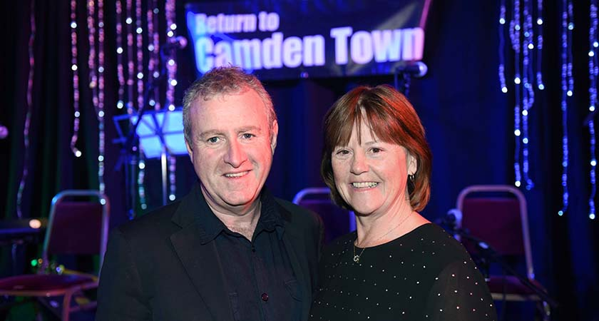 John Carty from the Good Mixer Band and Mary Flannery from P Flannery Plant Hire. Photo - Malcolm McNally